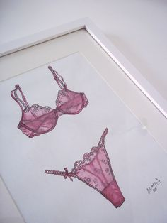 Lingerie .. illustration by Shoes, Kisses and Palm Trees