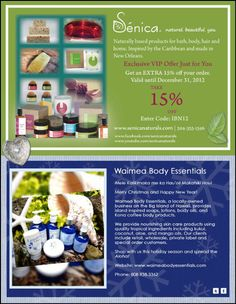 IBN's 2012 Handmade Holiday Holiday Gift Guide: Senica Naturals and Waimea Body Essentials Holiday Gift Guide, Holiday Gifts, Handmade Soaps, Just For You, Essentials, How To Make, Xmas Gifts