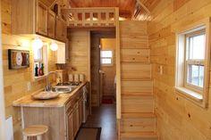 Model Liberty TM - 204 square feet lofted tiny house on wheels in Carlsbad, California. Built by Tiny Treasure Homes
