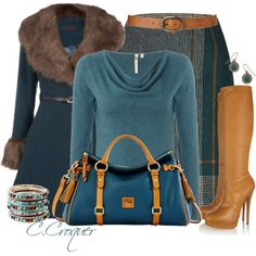 Winter Teal by ccroquer on Polyvore featuring White Stuff, Hobbs, Casadei, Dooney & Bourke, Accessorize and Tommy Hilfiger