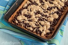 Andrea Meyers - Whole Wheat Oatmeal Peanut Butter Bars with Chocolate Chips...making this again soon!!