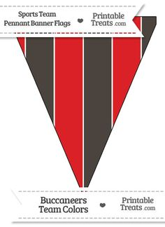 Buccaneers Colors Pennant Banner Flag from PrintableTreats.com