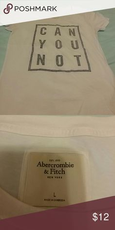 White T-shirt Abercrombie & Fitch New york Abercrombie & Fitch Tops Tees - Short Sleeve