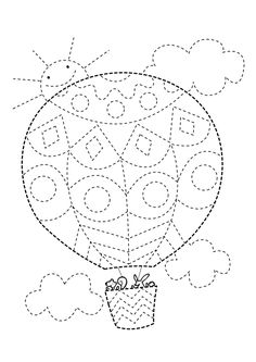 Airballoon tracing lines Preschool Writing, Preschool Worksheets, Preschool Learning, Kindergarten Activities, Preschool Activities, Pre Writing, Motor Activities, Childhood Education, Colouring Pages