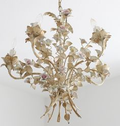 Antique french tole chandelier, $695  My budget isn't built like this, but it is lovely!