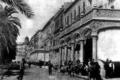 Café del Comercio. Se instaló en 1886 en el paseo de los Mártires, esquina con la calle de Bilbao, siendo uno de los más lujosos de todo los abiertos hasta entonces en la ciudad. En el mismo local, ya en el siglo XX, Luis Martínez abriría otro clásico y suntuoso café: el Café Central.