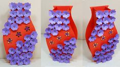 Easy Paper Flower Vase | Paper Craft Idea | How to Make Flower Vase at Home Paper Flower Vase, Flower Vases, Flower Making, Paper Crafts, Easy, How To Make, Home Decor, Bud Vases, Decoration Home