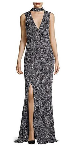 Alice + Olivia arial sequined gown.  aliceolivia  eveningdresses  gowns 30dda44c3e5e