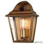 St James Flush Lantern Antique Brass