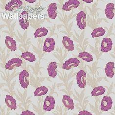 Poppy is an Art Nouveau wallpaper with sensuous flowers in a loose arrangement.