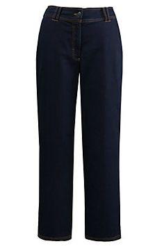 Marlene-Jeans, weites, gerades Bein, Stretchkomfort