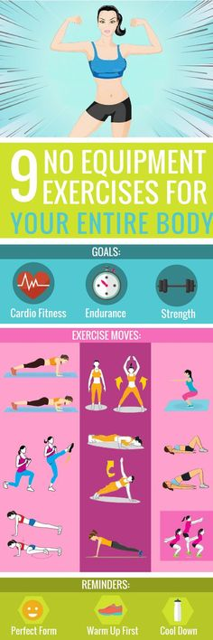9 No-Equipment Exercises for Your Entire Body if You Want to Look Hot Fast!