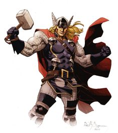 Thor is a fictional character, a superhero that appears in comic books published by Marvel Comics.