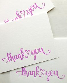 Letterpress Wedding Thank You Cards Engagement Thank by CocoPress