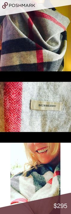 ⚜️Burberry long mega fringed shawl/wrap⚜️ 50/50 Cashmere/Merino Wool blend Burberry Accessories Scarves & Wraps