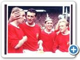 Manchester United FA Cup Winners 1963 Bobby Charlton Noel Cantwell Paddy Crerand Albert Quixall