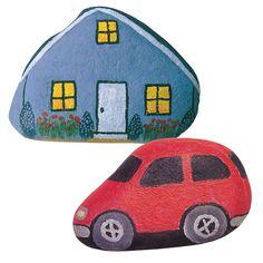 Kivistä saat maalaamalla vaikka kokonaisen kaupungin autoineen ja taloineen. Tarvikkeet ja ideat Sinellistä!