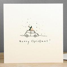 christmas car pencil shaving christmas card by ruth jackson