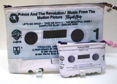 Prince Purple Rain 80s Retro Cassette Tape Clutch. $40.00, via Etsy.
