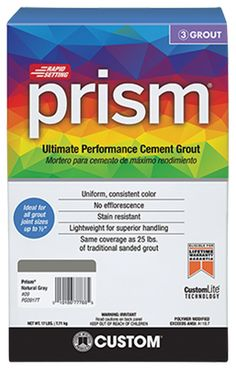 Prism Color: Stain Resistant Grout | Custom Building Products Cement Grout, Sanded Grout, Web Colors, Prism Color, Building Products, Building Materials, Driftwood, Kitchen, Mexican