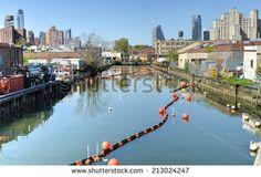 The Gowanus Canal, also known as the Gowanus Creek Canal, Brooklyn,