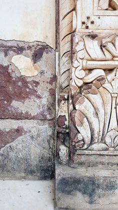 Textured, chiseled columns as Mehrangarh Fort. Jodphur, Rajasthan, India. katiesargentdesign.com Interior Design Studio, Interior Design Services, Rajasthan India, Columns, Painting, Travel, Art, Nest Design, Art Background