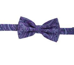 Purple Paisley Bow Tie