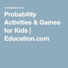 This page contains different kinds of games using probability.