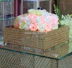 Free Shipping Wholesale 2pcs/lot Birthday Wedding Decoration Cake Stand Crystal Cake Trays cake plate 46*46cm Gold #Affiliate