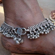 Beautiful Indian anklets.