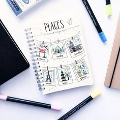sm beautiful places in the world i want to visit ugh // one day… // have you been to any of these places? - New Site Bullet Journal Travel, Bullet Journal Notebook, Bullet Journal Inspiration, Bullet Journals, Travel Scrapbook, Journal Pages, Hand Lettering, Stationery, Beautiful Places