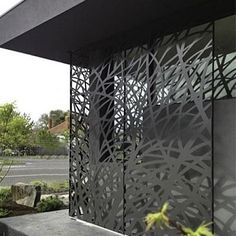 This laser cut metal panels is beautiful it creates lovely shadows and a modern touch to your exteriors.  #interiordesign #lasercut #homedecor #walldecor by planche_architecture