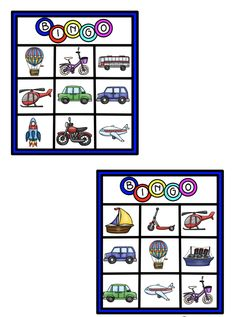 Bingo, Transportation, Preschool, Playing Cards, Arts And Crafts, Creative, Classroom Resources, Kids, Toddlers