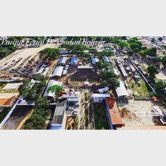 Parque Ferial De Ciudad Bolívar en Este momento. #ciudadbolivar #venezuela #drone #aereo #feriaAgropecuaria