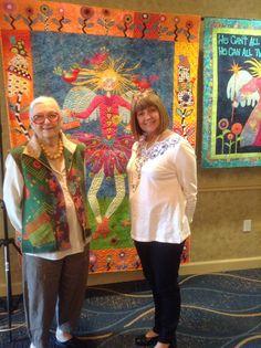 Freddy Moran and Roxanne Barbieri Retreat at Santa Barbara Quilting in March