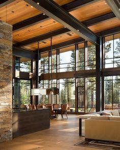 Martis Modern Mountain By Ward Young #Architect #MartisCamp #LakeTahoe #California #Cabin #lodge #Truckee #LakeTahoe #California