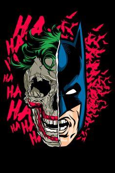 Comic-View — herochan: Joker and Batman Created by Said Peña Batman Poster, Batman Art, Superman, Batman Painting, The Artist Movie, Batman Tattoo, Univers Dc, Batman Wallpaper, Skull Artwork