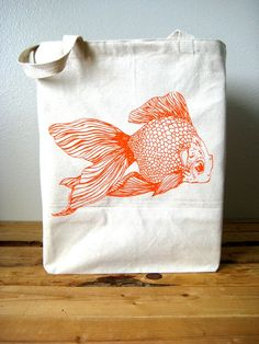 Recycled Cotton Shopper Tote  Grocery Bag  Large by ohlittlerabbit, $17.50