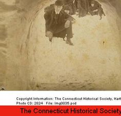 Blizzard of 1888: snow tunnel in Bridgeport. :: Connecticut History Online