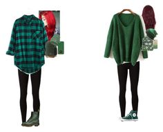 """""""Colors:Green"""" by lovefood-1167 ❤ liked on Polyvore featuring Rick Owens Lilies, Madewell, WithChic, Converse, Dr. Martens, Vans, Vera Bradley, DC Shoes, Michael Kors and Casetify"""