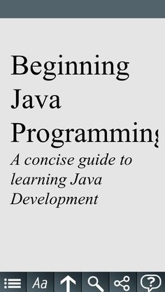 Catherine Ting | Books | iPhone | Beginning Java ... $0.00 | ver.1.0| $0.99 | Learn Java Programming in the quickest time possible with this concise app that teaches you all the essentials about Java programming. Written for ...