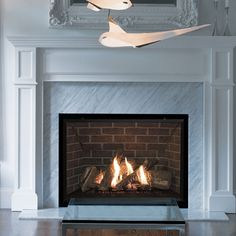 fireplace refurbished black slate insert with ripples Dining Room Fireplace, Gas Fireplace Logs, Fireplace Inserts, Modern Fireplace, Fireplace Wall, Fireplace Design, Fireplace Ideas, Valor Fireplaces, Gas Fireplaces