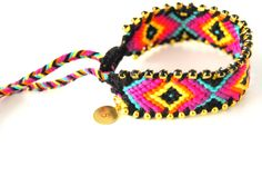 Aztec and bedazzled friendship bracelet inspiration