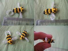 Beaded bee 1 by FunkadelicPsychoFish.deviantart.com on @deviantART