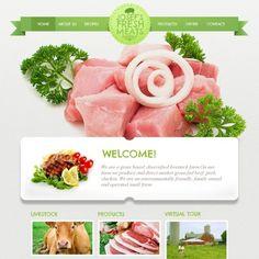 Cattle Farm Premium Moto CMS HTML Template