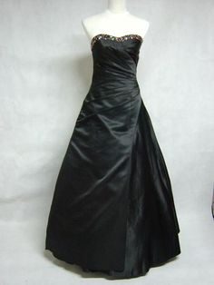 black wedding dresses | Gothic Strapless Black Wedding Dresses