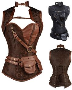 Steampunk Brocade with Jacket Womens Corset | Blossom Costumes