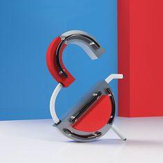 Ampersand 3D 3d Type, Cinema 4d, 3 D, Instagram Posts, Artwork, Design, Work Of Art, Auguste Rodin Artwork