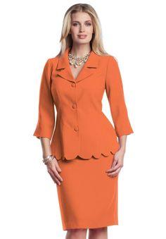 474fc7bec8d Jessica London Women s Plus Size Scalloped Skirt Suit Plus Size  Professional
