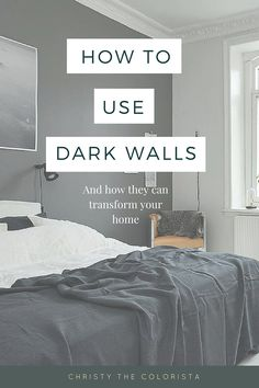 A super simple guide on decorating with dark walls! Plus the best BENJAMIN MOORE DARK PAINT COLORS!